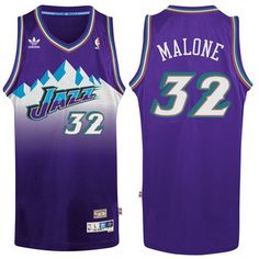adidas Karl Malone Utah Jazz Purple Hardwood Classic Swingman Jersey  jazz   nba  basketball 9d6122865