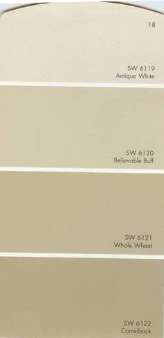 believable buff and whole wheat are my main interior colors. Two great neutral shades.