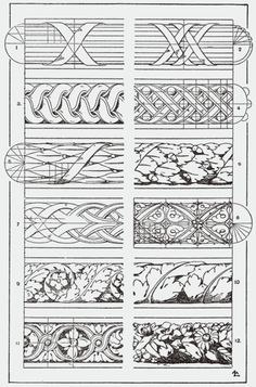 "You could use this in your Zentangle practice. From, ""A Handbook of Ornament"". 1898 by Franz Sales Meyer."