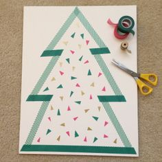 washi tape tree!
