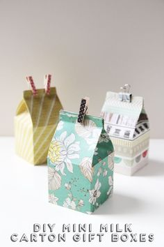 Diy Mini Milk Carton Gift Boxes. | Gathering Beauty