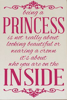 'Being a Princess' Wall Plaque
