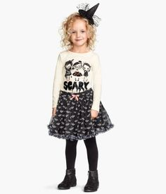 Bat print tulle skirt, $14.9, sizes 1 1/2 years to 10 years | H&M US