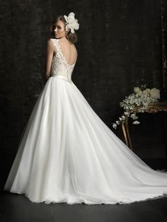 Gorgeous lace back, princess cut wedding dress ~ Allure Bridals Fall 2012