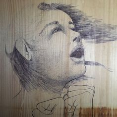 #wind #workinprogress #girlyelling #pen #penandink #emosaustin #texture #fist #hairinwind #wood #woodcraft #woodcanvas #robin #robinlyn #robinlyartist #pointillism #croshatching #woodgrain #epic #artwork #art