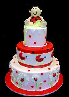 lady bug theme baby shower   Click to enlarge Ladybug Themed Baby Shower Cake