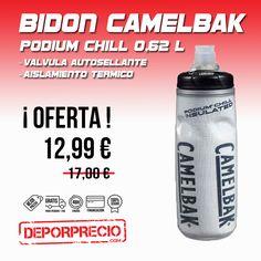#Bidon #Camelbak Podium Chill para una óptima #hidratación antes durante y después de practicar tu #deporte. Fabricado con un material #antimicrobiano y libre de polipropileno. Con una ¡ GRAN OFERTA ! en ------> http://www.deporprecio.com/es/531-bidon-camelbak-0-62-l-podium-chill-jacket-2016-logo.html