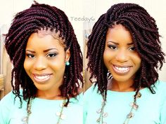 Nice kinky twist hairstyle from Crochet Braids?Don't Tell Nobody Else ; Crochet Braids Marley Hair, Crochet Braid Styles, Crochet Braids Hairstyles, Bob Hairstyles, Braided Hairstyles, Protective Hairstyles, Protective Styles, Black Hairstyles, Crochet Style