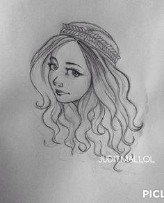 Girl drawing portrait