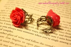 Pink Rose Rings  SEE MORE AT: www.madewithlovejewelry.tumblr.com  https://www.facebook.com/MadeWithLoveJewelryByShana