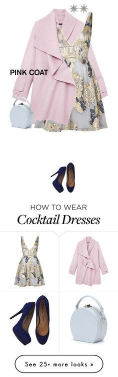 """""""Pink coat"""" by maria-maldonado on Polyvore featuring Vince, Notte by Marchesa, Handle, Pour La Victoire, Bee Goddess and pinkcoats"""