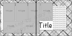 4X6 Photo layout sketch 101.... for 6 photos