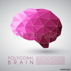 Abstract Polygonal Brain Shape : Vector Illustration Brain Shape, Neural Connections, Tatoos, Illustration, Adobe, Shapes, Stock Photos, Abstract, Logos