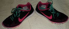 NIKE Women's Free Advantage Mesh Caf Running Shoes 579964-001 Black~Pink Force #Nike #Athletic