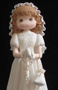 First Communion Girl Cake Topper, Girls Baptism Cake Topper, First Communion…