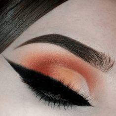 21 Sunset Makeup Looks - Natural Makeup Paso A Paso Orange Eye Makeup, Red Lipstick Makeup, Eyeshadow Makeup, Makeup Cosmetics, Orange Eyeshadow, Eyeshadows, Make Up Looks, Lots Of Makeup, Makeup Tips