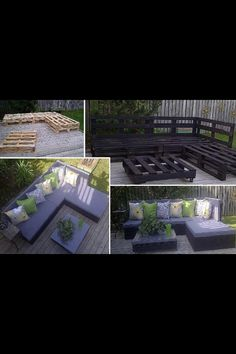 Use pallets to make out door furniture