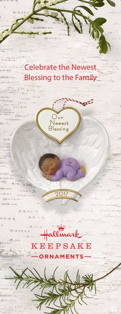 Celebrate the newest blessing to your family with the help of Hallmark Keepsake Ornaments. This African-American Baby's First Christmas Ornament, in particular, is a great way to cherish this wonderful occasion on your Christmas tree year after year. Whether you choose to gift this decoration to the new parents or add it to your collection, it's truly a special piece.
