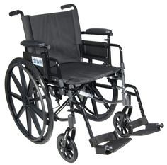 """Cirrus IV Lightweight Dual Axle Wheelchair with Adjustable Arms, Detachable Desk Arms, Swing Away Footrests, 16"""" Seat"""