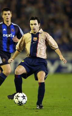 what an inspiration he is Andres Iniesta of Barcelona in action during the UEFA Champions League First Phase Group H match between Club Brugge and Barcelona on October 29, 2002 played at the Jan Breydelstadion stadium in Brugge, Belgium. Barcelona won the match 1-0. (Photo by Dave Rogers/Getty Images)