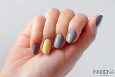 banana z szarymi Mani Pedi, Manicure, Simple Nail Designs, Gel Color, Shellac, Swatch, Nail Art, Beauty, Banana