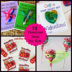 15 Kids Valentines Ideas for Kids: Looking for Valentine's Ideas for the kids this year? We have rounded up 15 simple craft ideas for the kids!