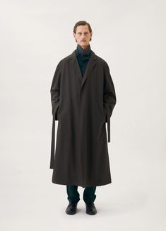 SOFT COAT - Lemaire-EU Men's Wardrobe, Single Breasted, Female Models, The Row, Normcore, Unisex, Coat, Fashion, Self