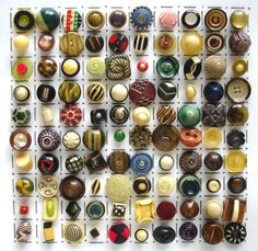 vintage buttons | All these buttons are different examples of buttons made from ...