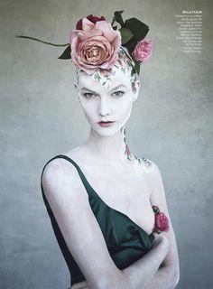 True Romance (American Vogue) dec 2014  Patrick Demarchelier - Photographer Phyllis Posnick - Fashion Editor/Stylist Julien d'Ys - Hair Stylist Aaron de Mey - Makeup Artist Karlie Kloss - Model