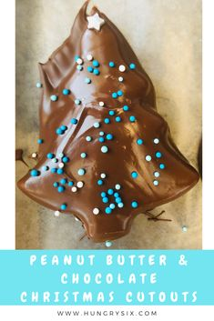 Peanut Butter Chocolate Christmas Cutouts - Easy to make decorate. Great for gifts and parties! Peanut Butter Sheet Cake, Peanut Butter Swirl Brownies, Best Peanut Butter, Peanut Butter Balls, Creamy Peanut Butter, Chocolate Peanut Butter, Chocolate Glaze, Love Chocolate, Chocolate Coffee