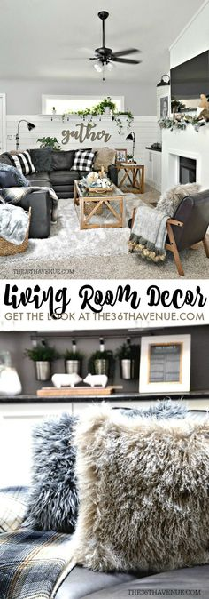 Living Room Decor Ideas inspired by industrial and modern farmhouse design.
