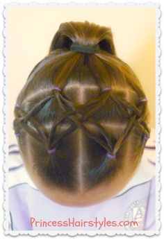 Woven twist headband and ponytail hairstyle