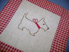 scottie dog embroidery