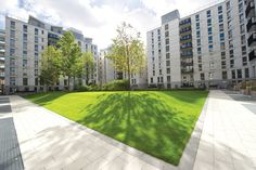 The N10 courtyard in East Village, E20