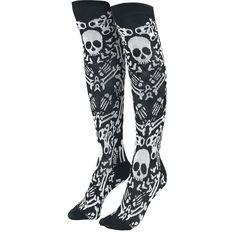 Bones - Knee Socks by Too Fast