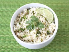This cilantro lime rice has fresh lime juice and cilantro to jazz up this rice dish. Cilantro rice is easy, delicious, and is the perfect side dish for most Mexican foods. Rice Recipes, Mexican Food Recipes, Great Recipes, Vegetarian Recipes, Cooking Recipes, Healthy Recipes, Favorite Recipes, Yummy Recipes, Vegetarian Mexican