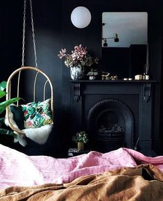Home Decorating Tips On A Budget Referral: 1832985983 Pink Green Bedrooms, Bedroom Green, Fashion Kids, Hanging Chair With Stand, Dorm Organization, Wood Store, Paint Color Schemes, Budget, Woman Bedroom