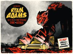 #gigposter for Ryan Adams & The Shining by Ivan Minsloff. #dra