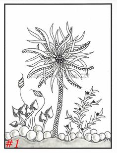 Zentangle Inspired Note Cards - 4-1/4 x 5-1/2 inch cards - set of 4 cards