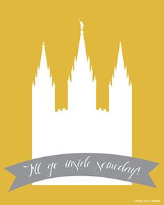 5 Printables Salt Lake City Temple LDS Art by RubyOliveDesigns