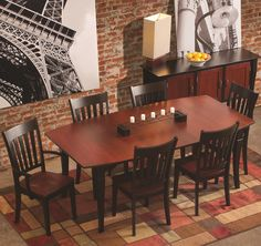 Amish dining room built to last. A balance of casual warmth and refined simplicity make this dining set a great option for both everyday and formal dining.
