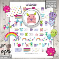 Monster Planner Stickers by www.YupiYeiPapers.Etsy.com