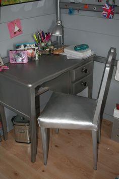 Bureau et chaise relookés