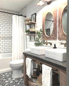 4 Far-Sighted Hacks: Affordable Bathroom Remodel Modern bathroom remodel bathtub tile.Bathroom Remodel Shower The Wall bathroom remodel traditional double sinks. Tiny Bathrooms, Beautiful Bathrooms, Modern Bathroom, Small Bathroom, Master Bathroom, Minimalist Bathroom, Modern Minimalist, Basement Bathroom, Brown Bathroom