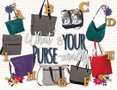What\'s your purse-onality game for your VIP group and Facebook parties. Such a fun & engaging online game! #ilovemybaglady
