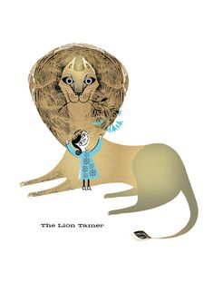 The Lion Tamer - Lesley Barnes Illustration