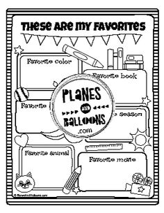 All about me worksheets FREE printable perfect for back to school theme