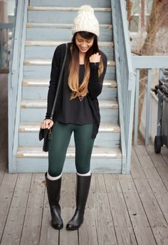 Anchored Leggings with Inner Napping m.OASAP.com