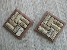 Wine cork coasters- who doesn't just LOVE wine corks ;)