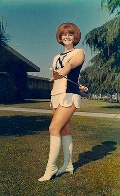 Norwalk High Majorette, 1969-70 by ozfan22, via Flickr